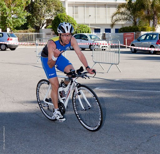 xavier triathlete cycliste vegetarien